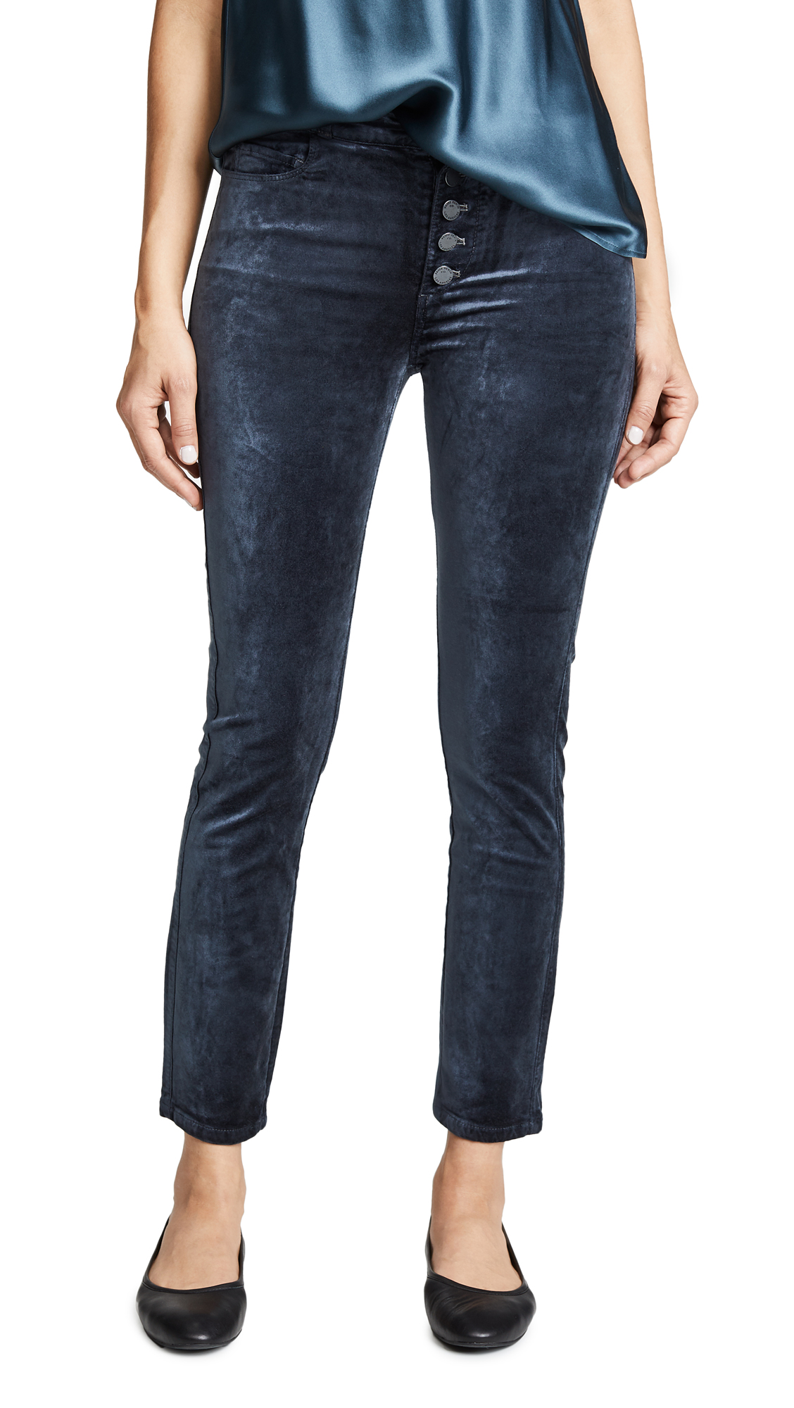 Velvet Hoxton Ankle Peg Exposed Button Fly Jeans