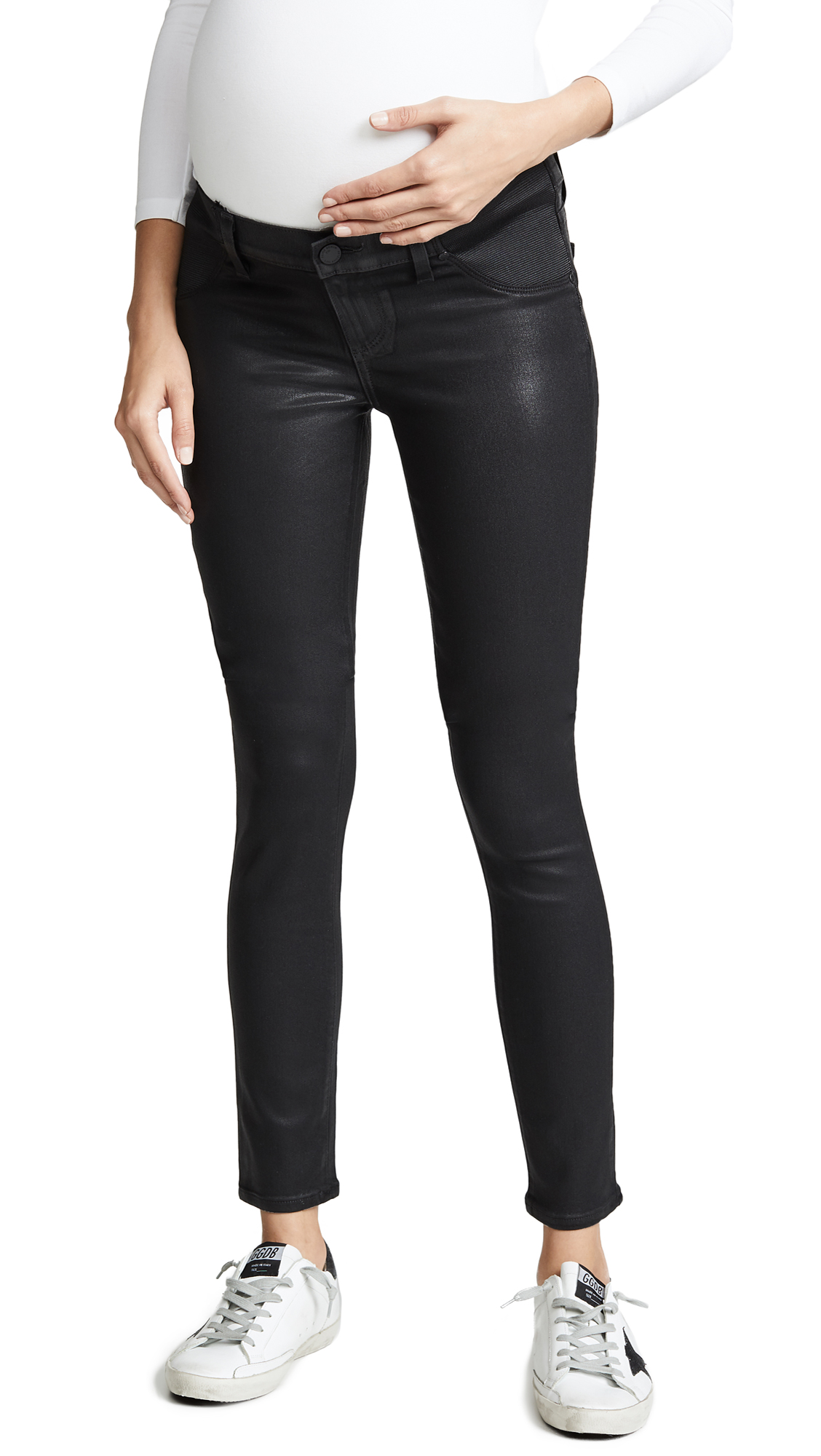 Coated Verdugo Ultra Skinny Maternity Jeans