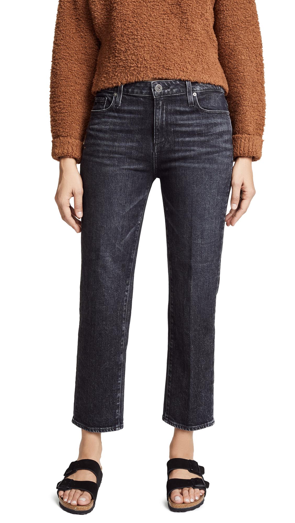 PAIGE Noelle Straight Leg Jeans In Little Rock