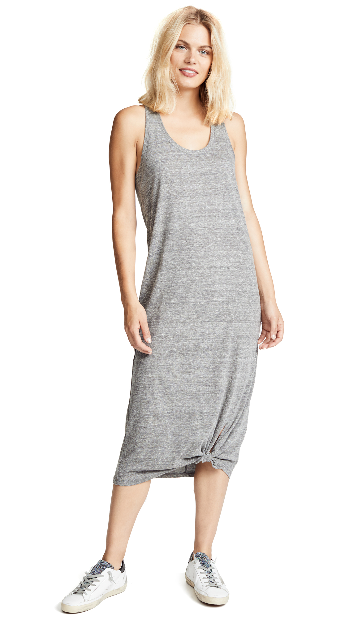 PAIGE Perrine Maxi Dress In Heather Grey