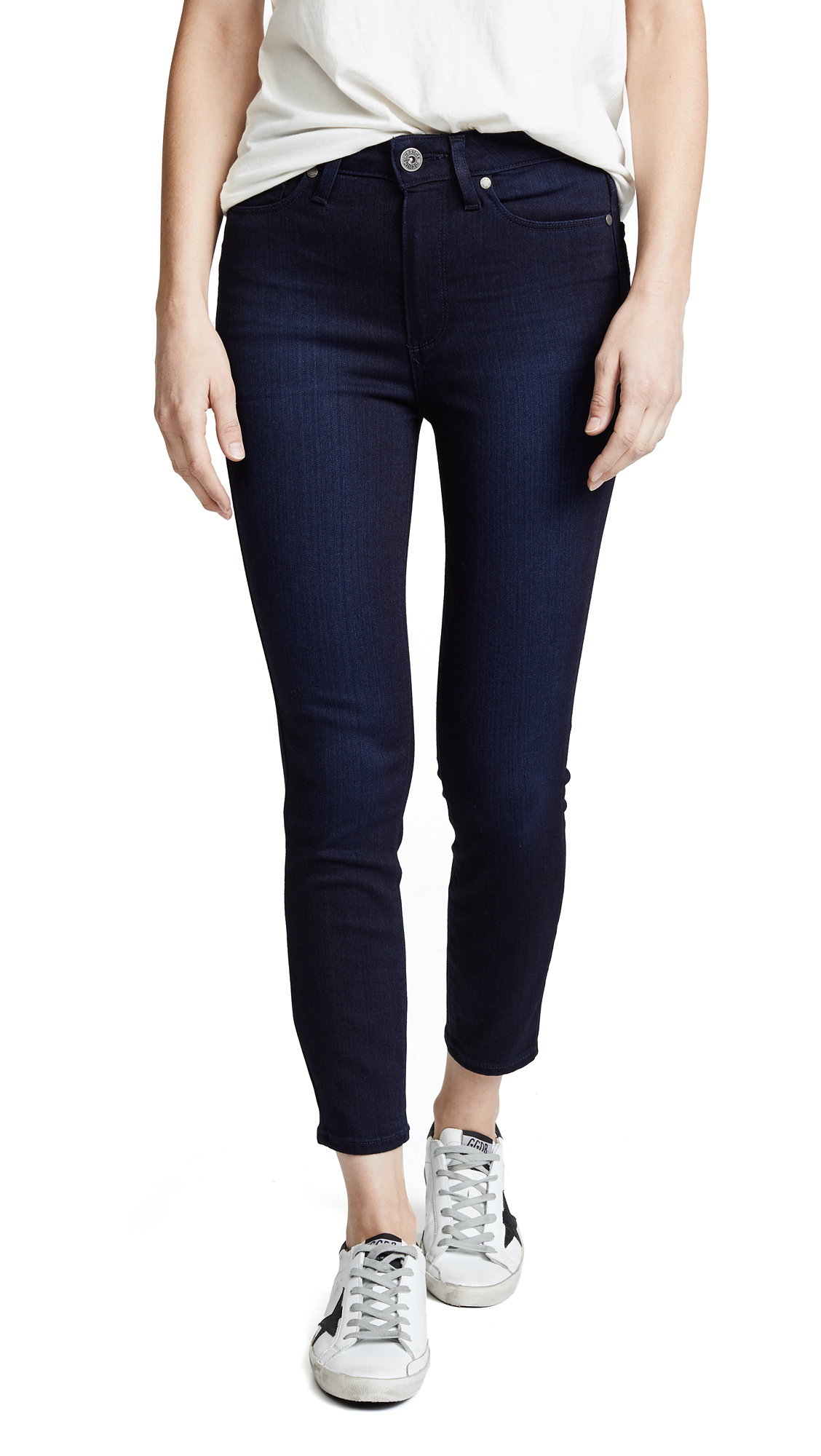 PAIGE Margot High Rise Crop Skinny Jeans In Lana