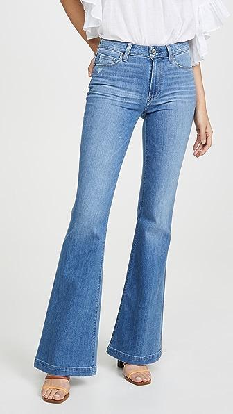 PAIGE Расклешенные джинсы Genevieve с широким нижним краем