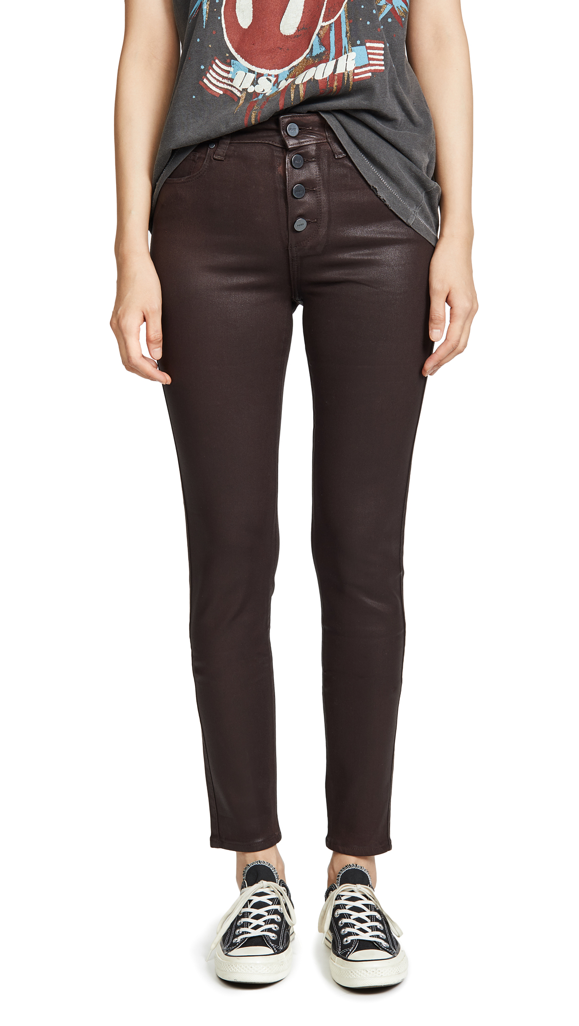 Buy PAIGE online - photo of PAIGE Hoxton Slim Jeans With Exposed Buttons