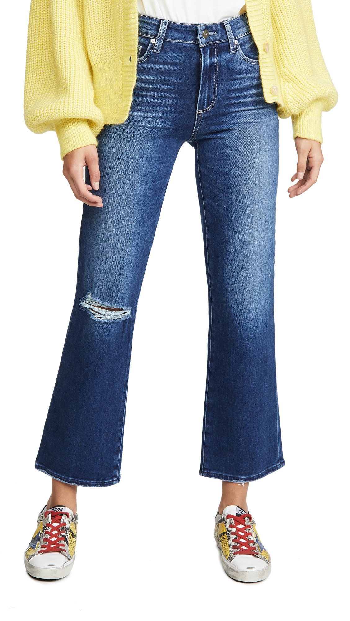 Buy PAIGE online - photo of PAIGE Atley Ankle Flare Jeans