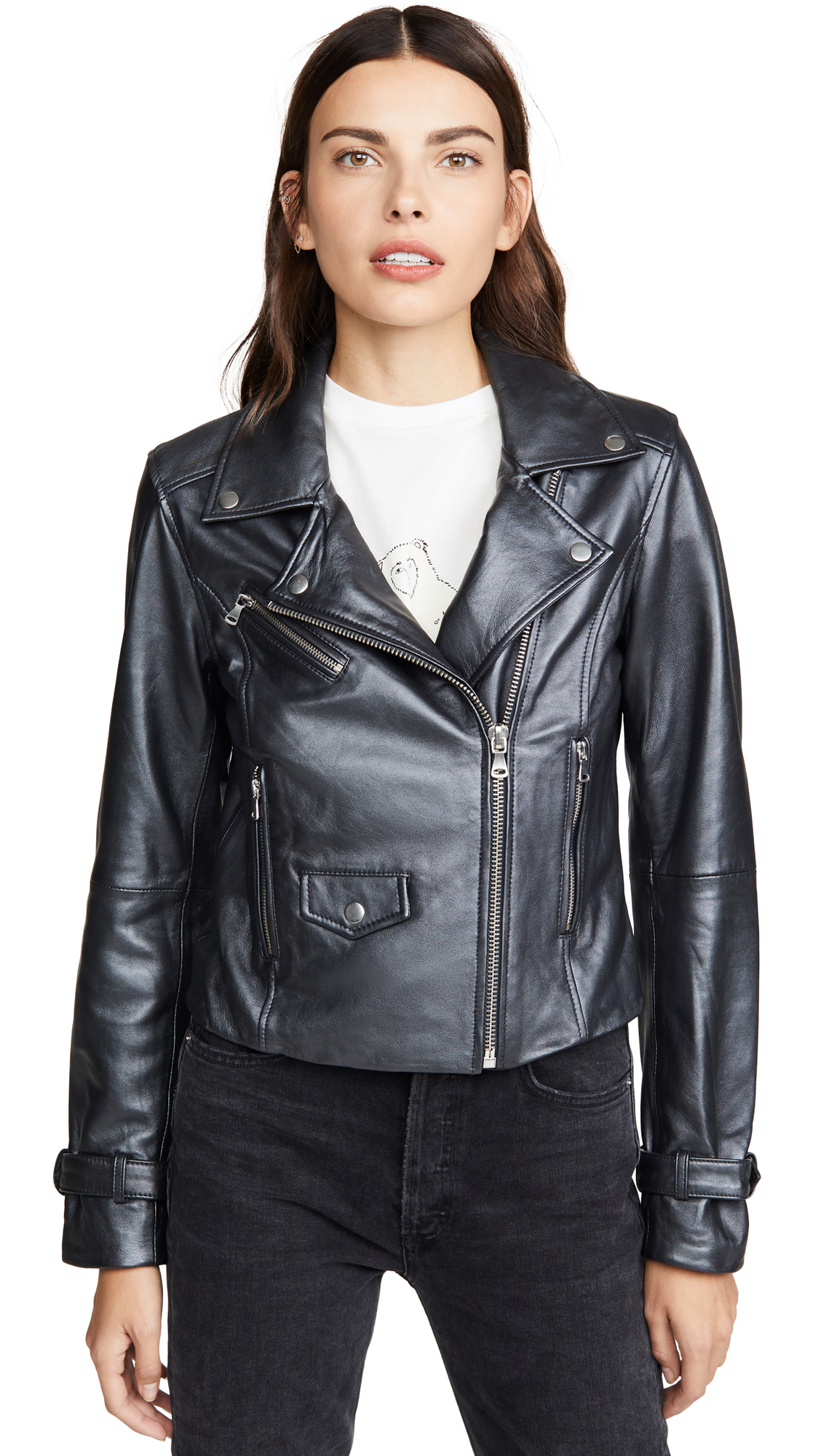 Buy PAIGE online - photo of PAIGE Ashby Leather Jacket