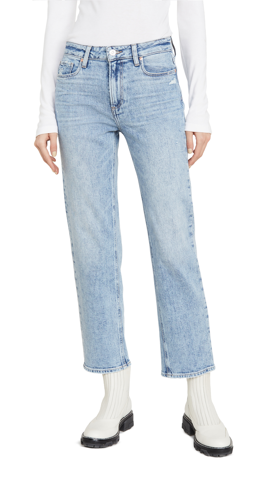 Buy PAIGE online - photo of PAIGE Noella Straight Jeans