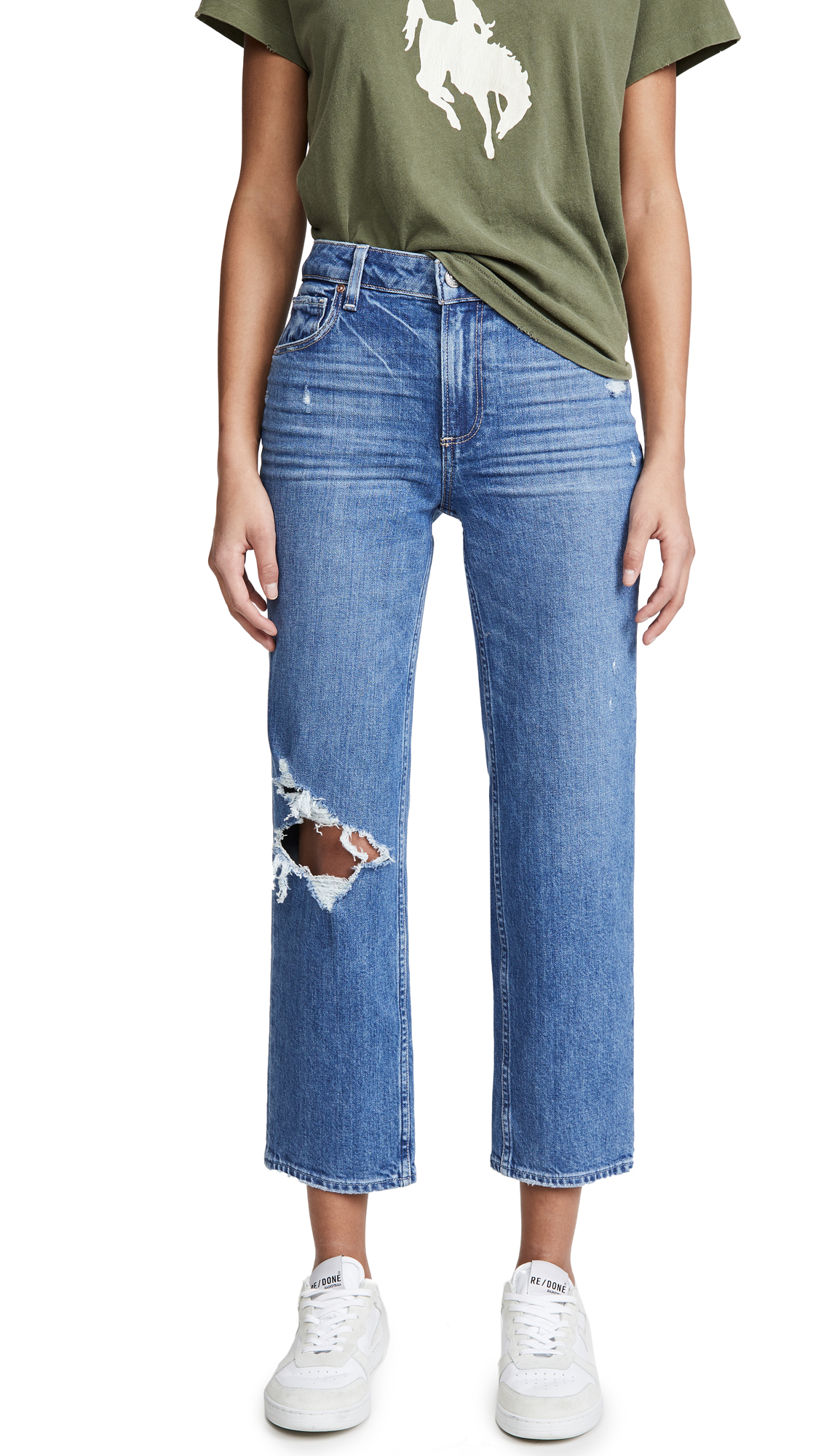 PAIGE Noella Straight Jeans With Caballo Inseam