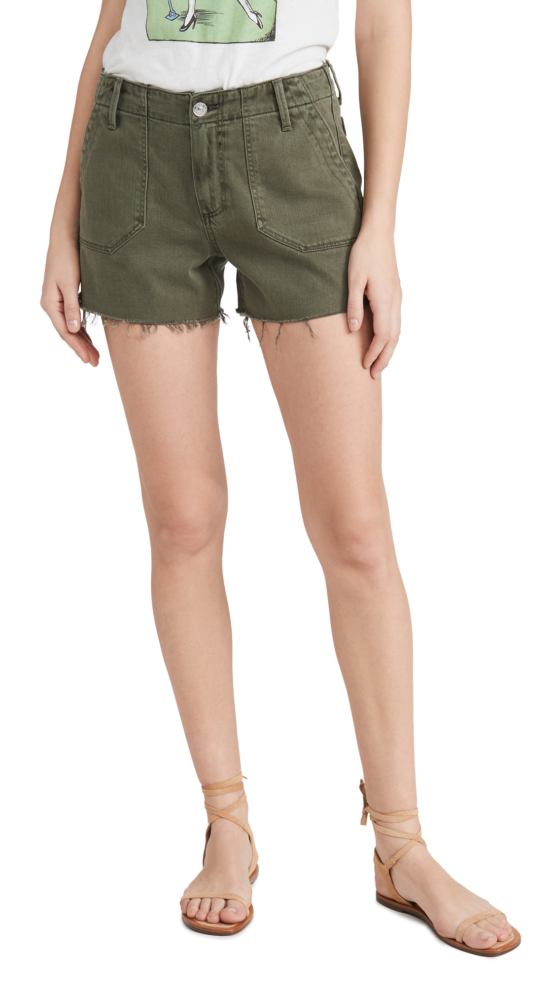 Buy PAIGE online - photo of PAIGE Mayslie Utility Shorts