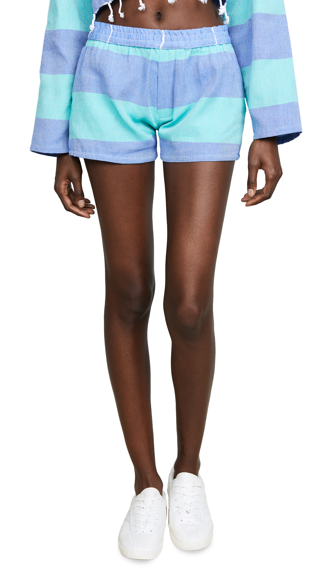 Paradised Surf Shorts In Blue/Mint