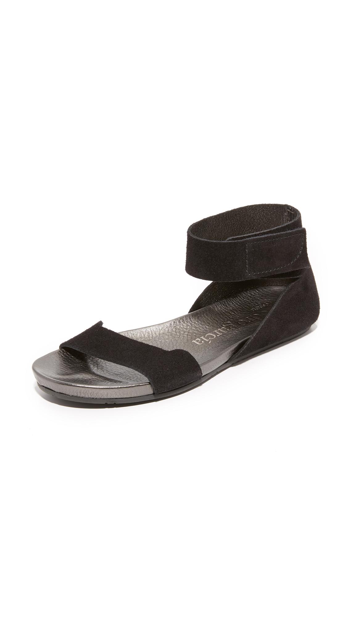 Pedro Garcia Joline Flat Sandals - Black