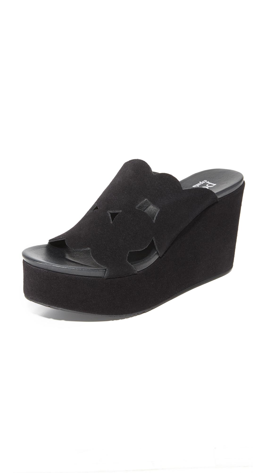 Pedro Garcia Dina Wedge Slides - Black