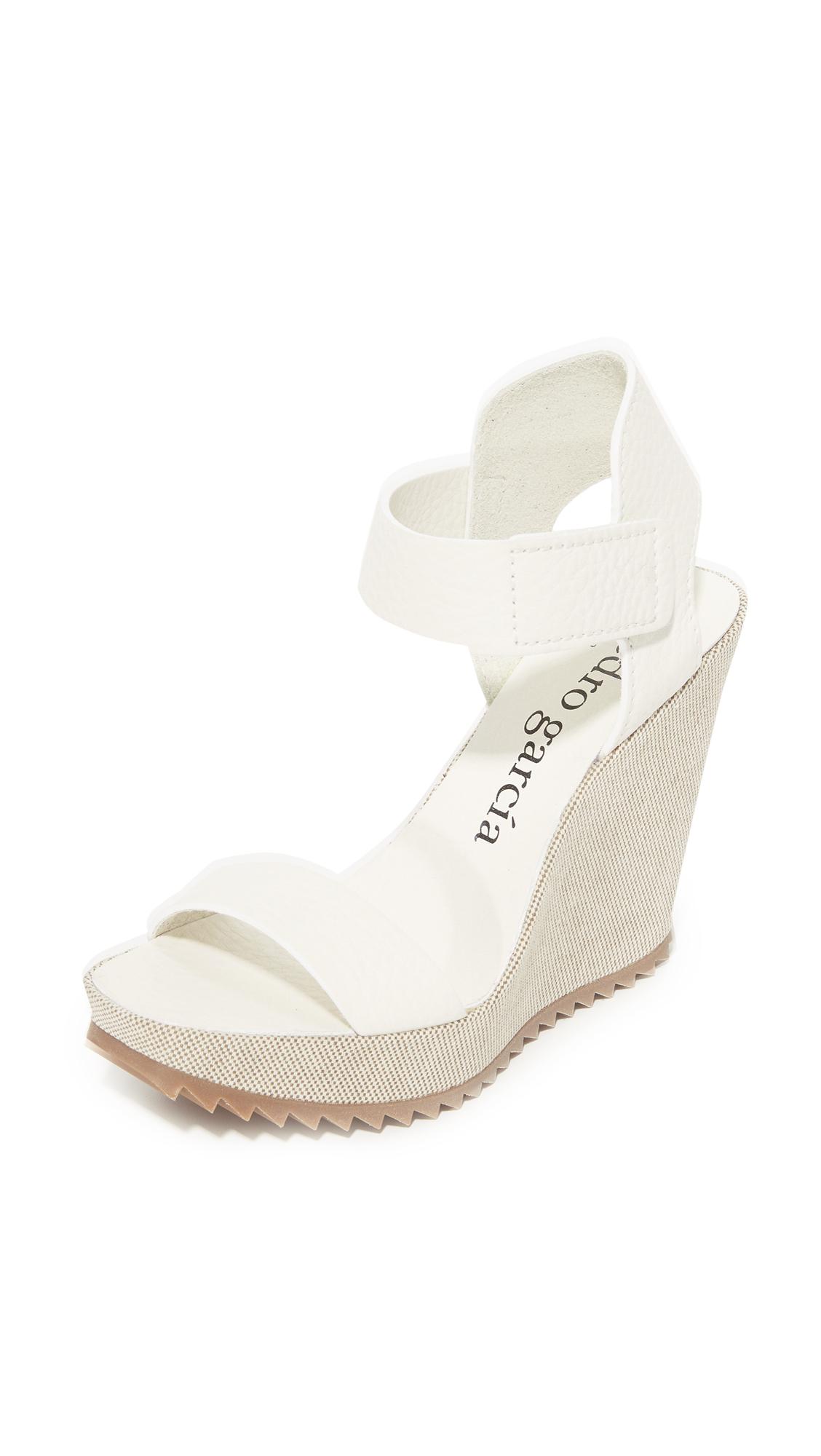 Pedro Garcia Vivien Wedge Sandals - White