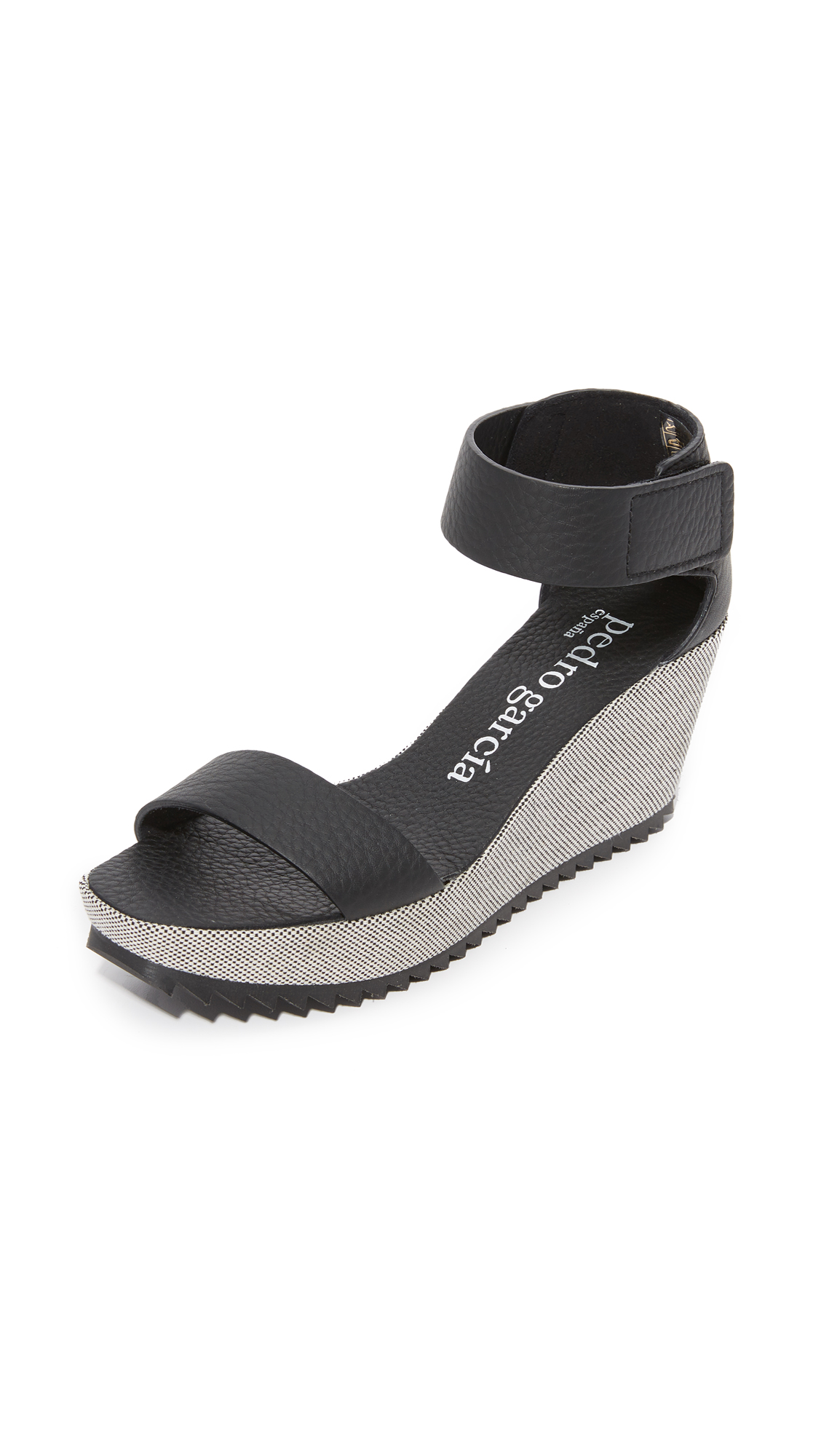 Pedro Garcia Fidelia Wedge Sandals - Black