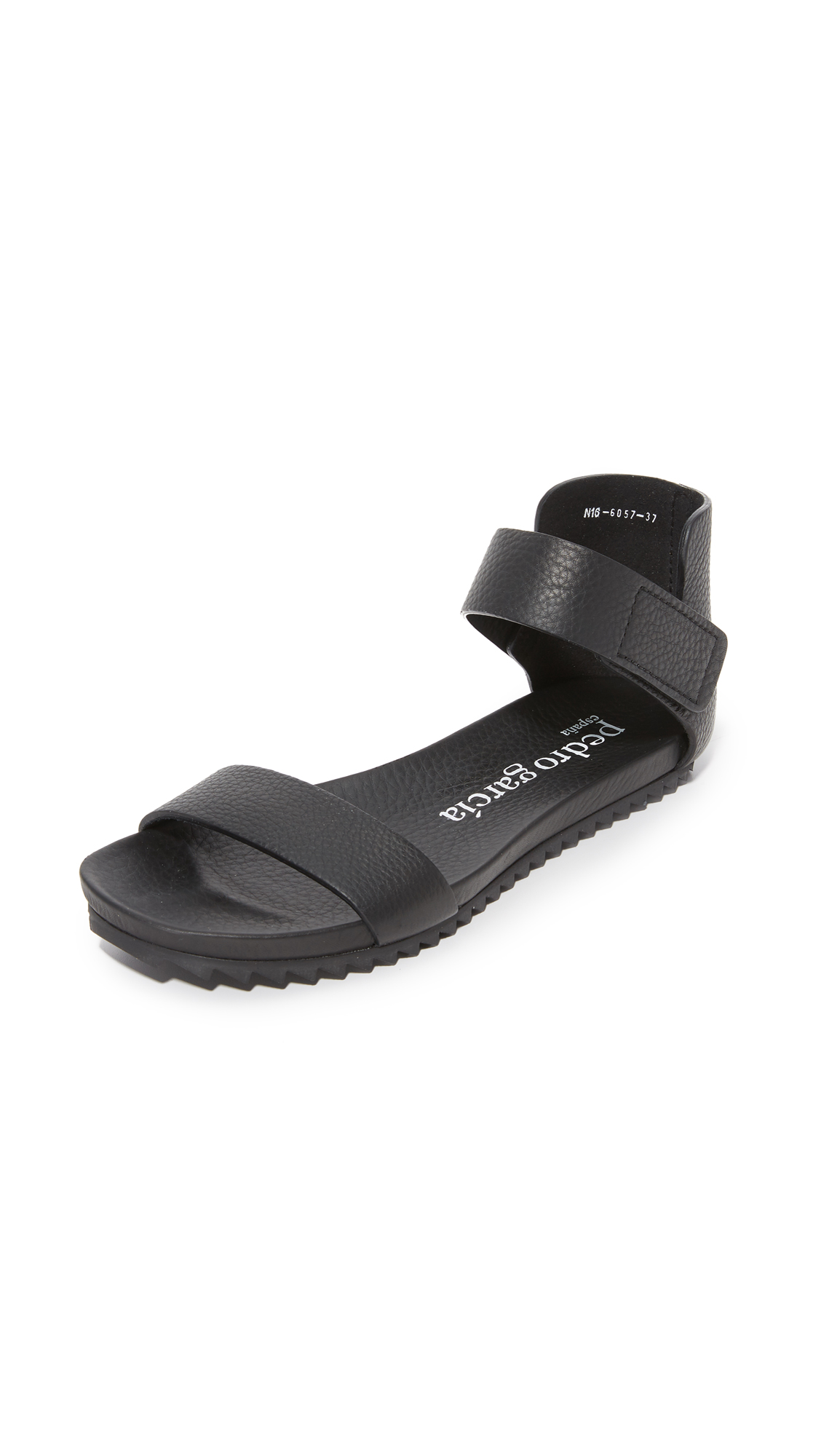 Pedro Garcia Juncal Flat Sandals - Black