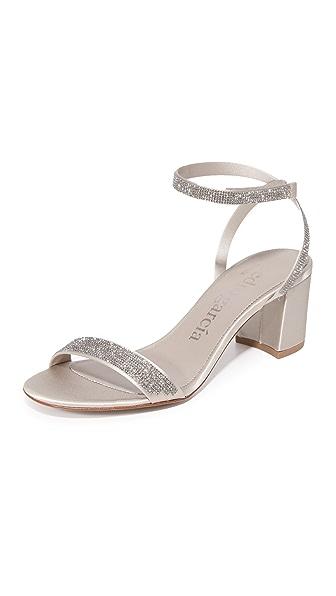 Pedro Garcia Xela Block Heel Sandals - Titanium