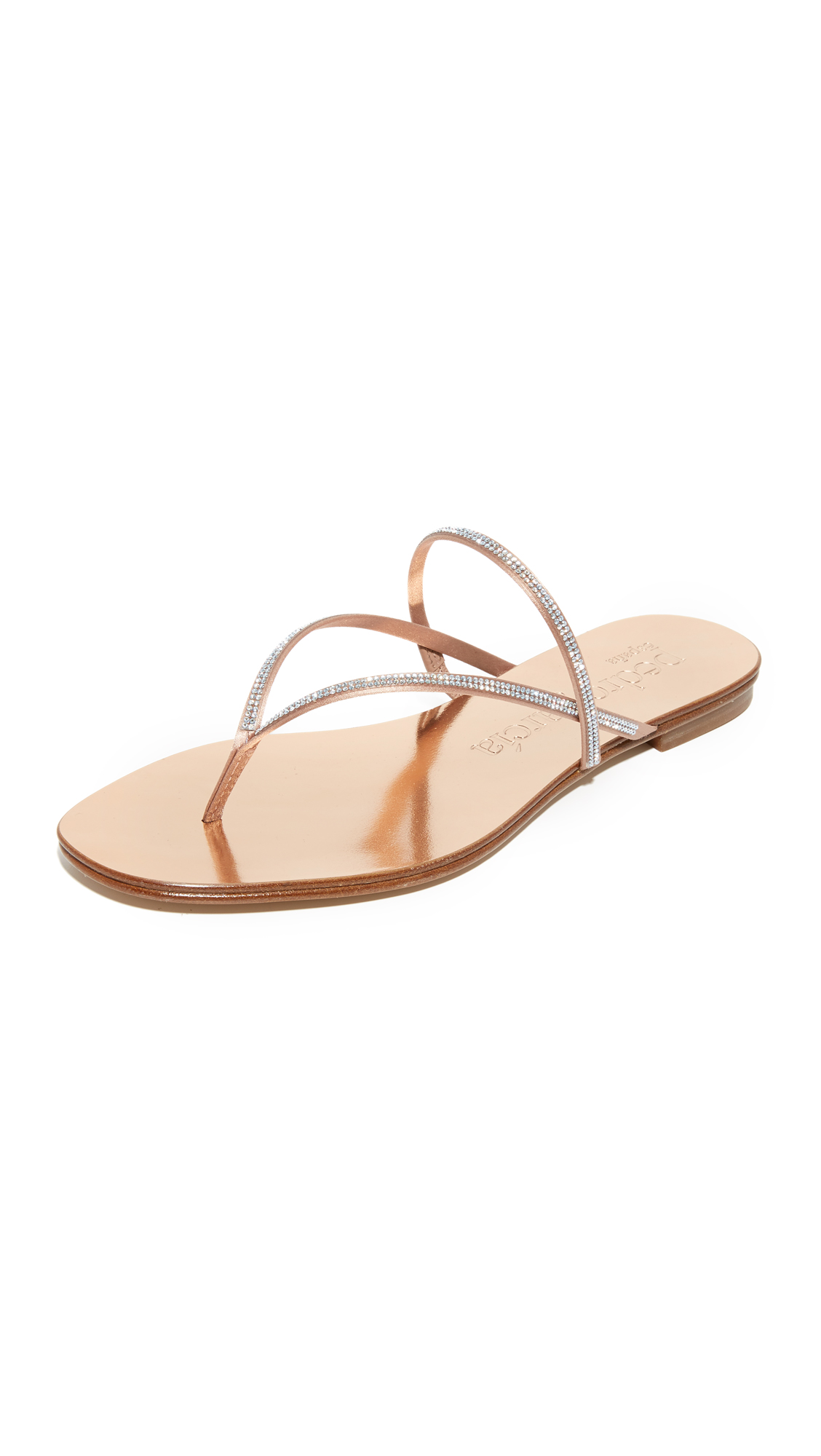 Pedro Garcia Enara Crystal Thong Sandals - Quartz