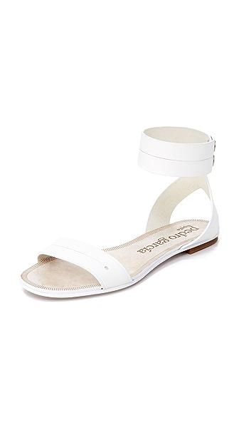 Pedro Garcia Etel Flat Sandals - White