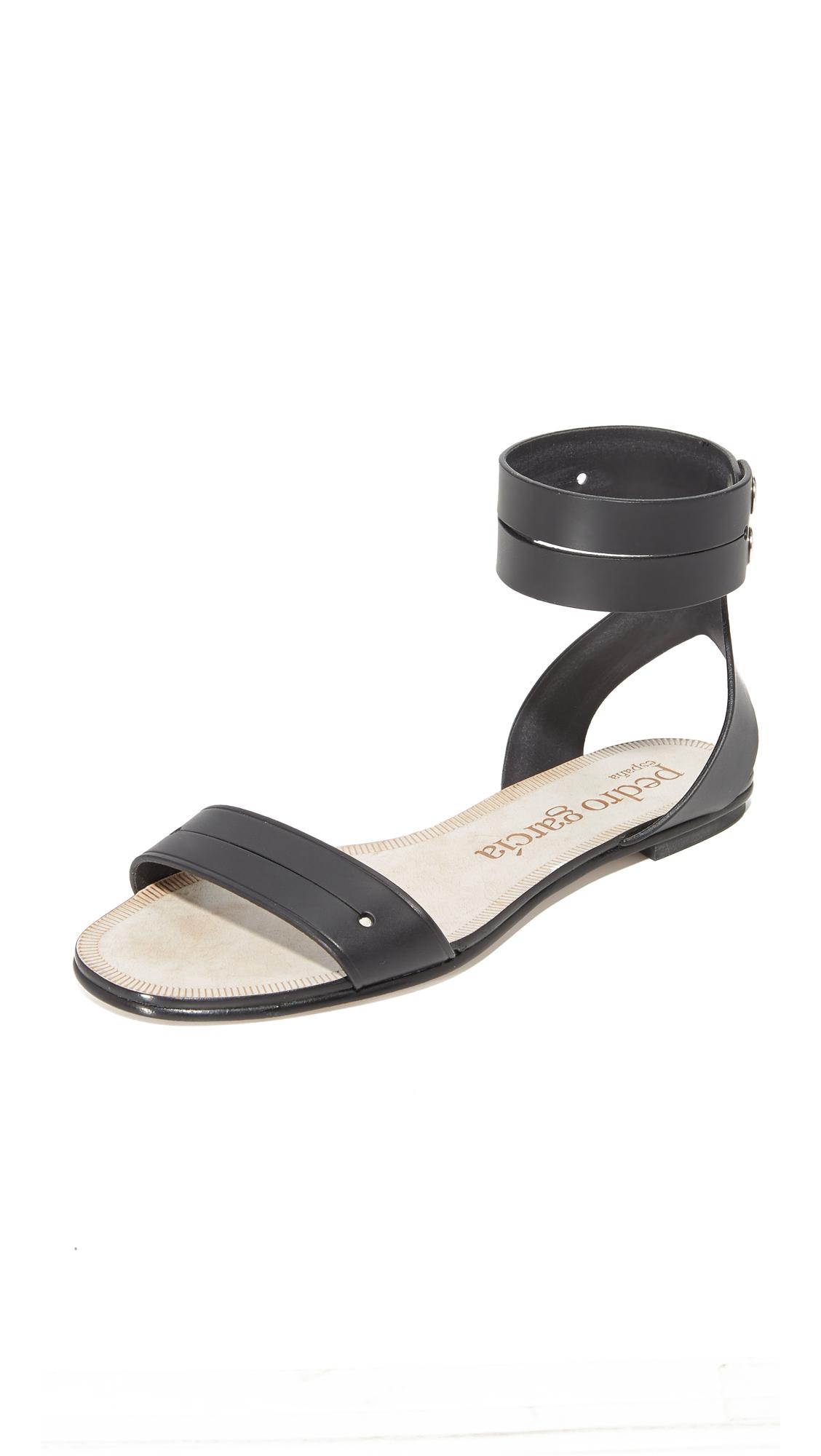 Pedro Garcia Etel Flat Sandals - Black