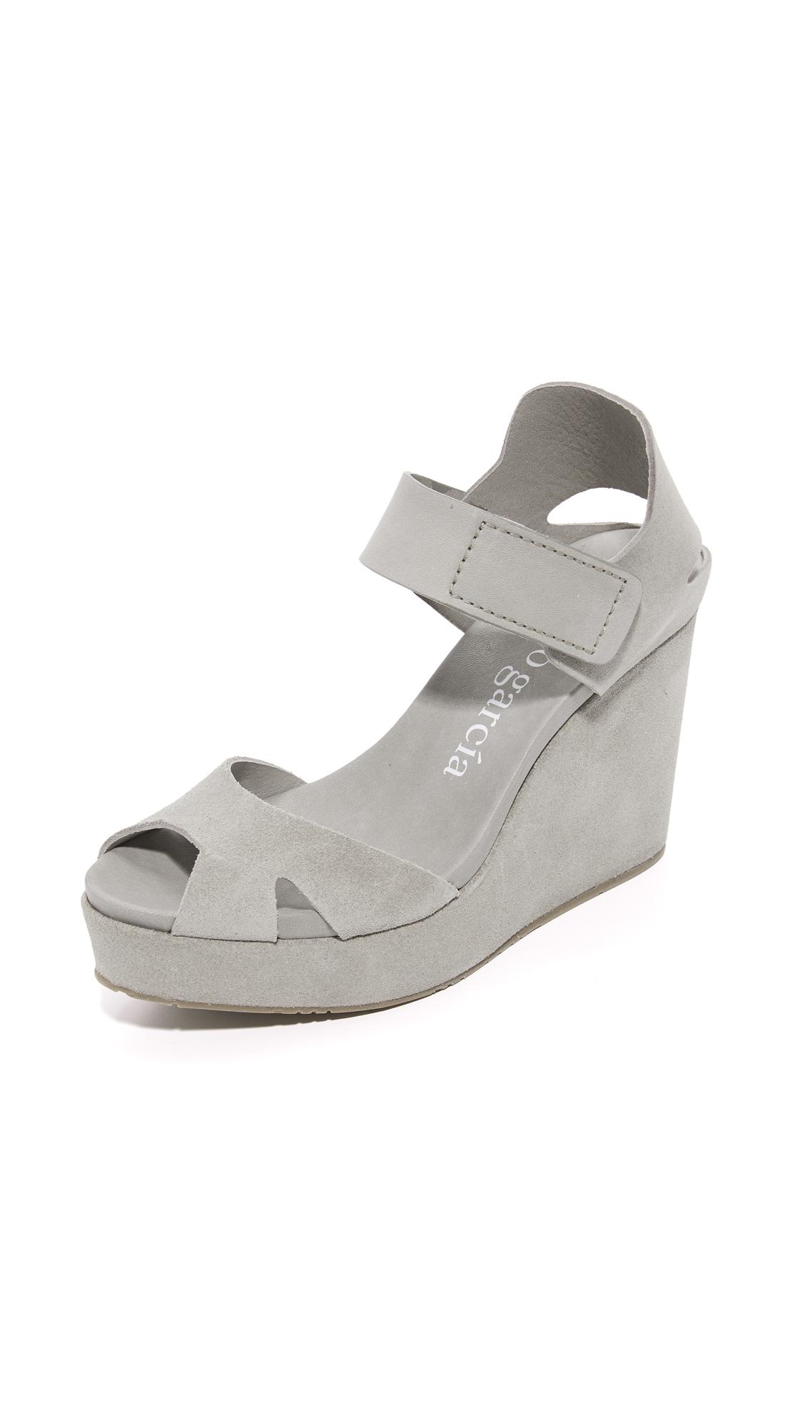 Pedro Garcia Malu Wedge Sandals - Pumice