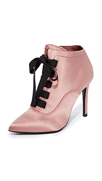 Pedro Garcia Ana Lace Up Booties - Powder