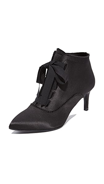 Pedro Garcia Eulalia Lace Up Booties - Black