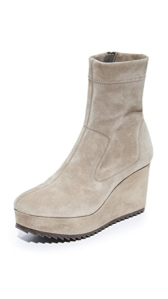 Pedro Garcia Urika Wedge Booties - Taupe