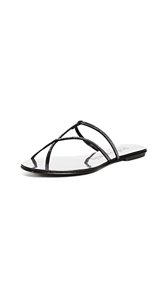 Pedro Garcia Estee Thong Sandals In Black