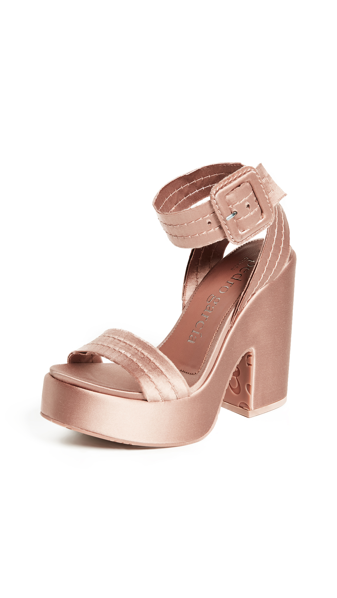 Pedro Garcia Thora Platform Sandals - Bisque