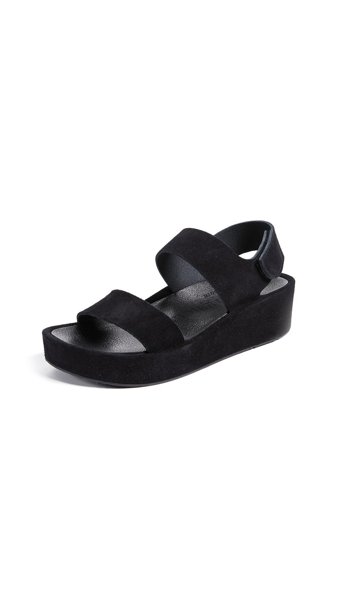 Lacey Platform Sandals, Black