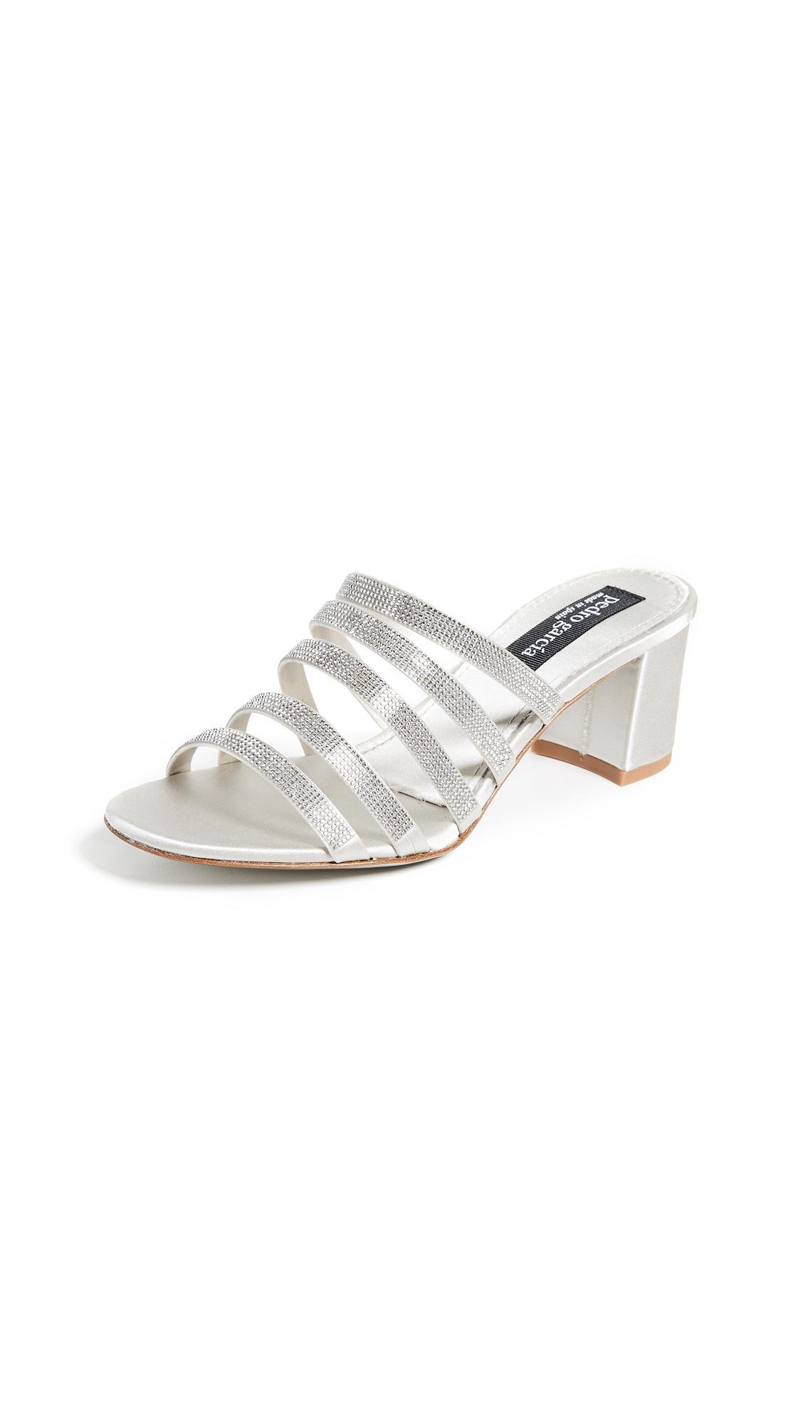 Pedro Garcia Xaki Multi Strap Sandals - Platinum