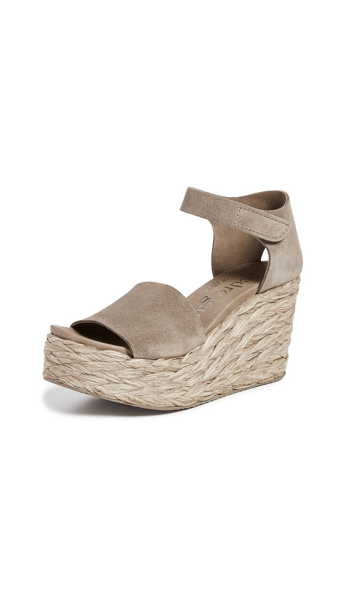 Pedro Garcia Dory Wedge Sandals - Bark