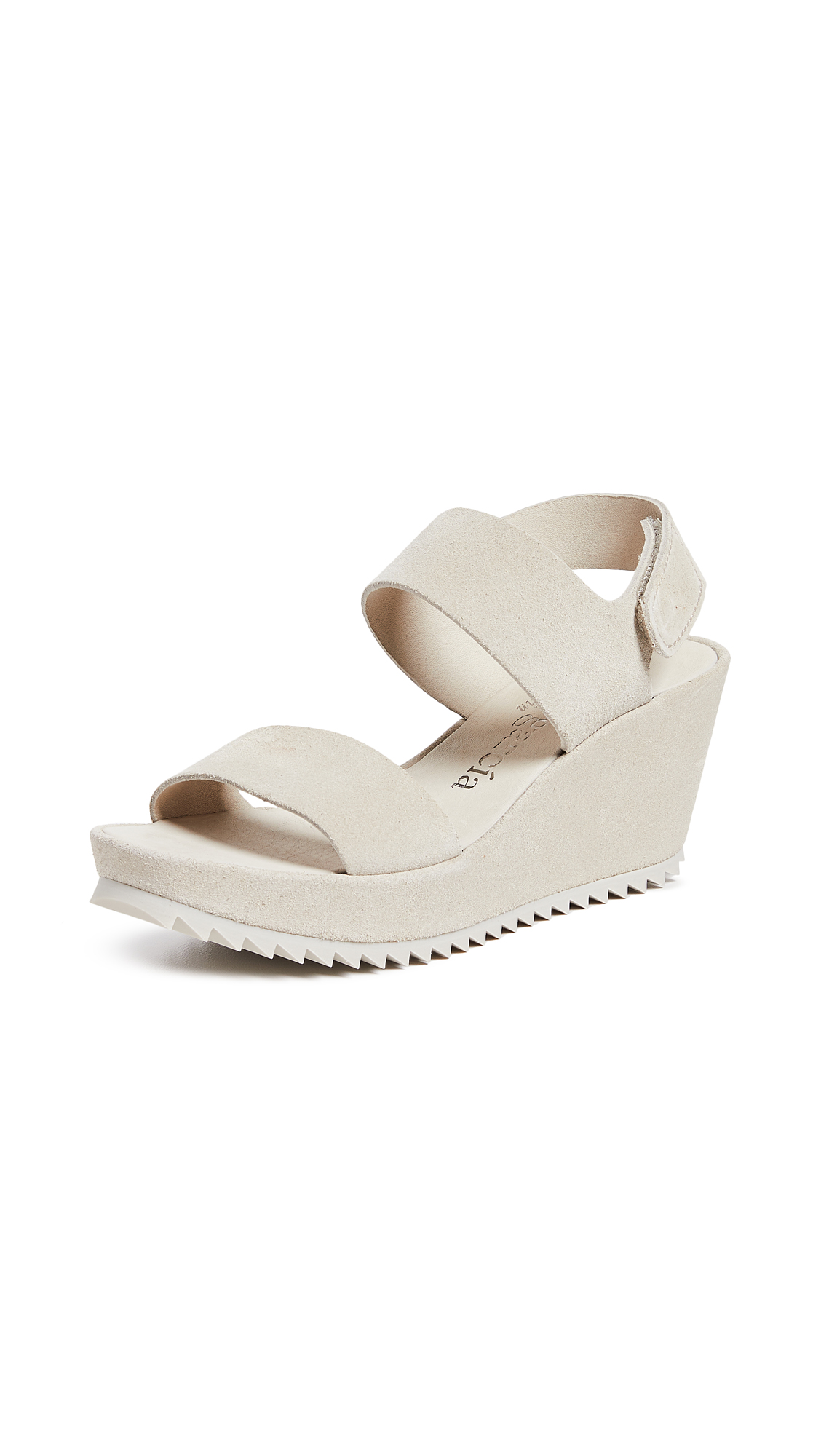 Pedro Garcia Fiona Wedge Sandals - Birch