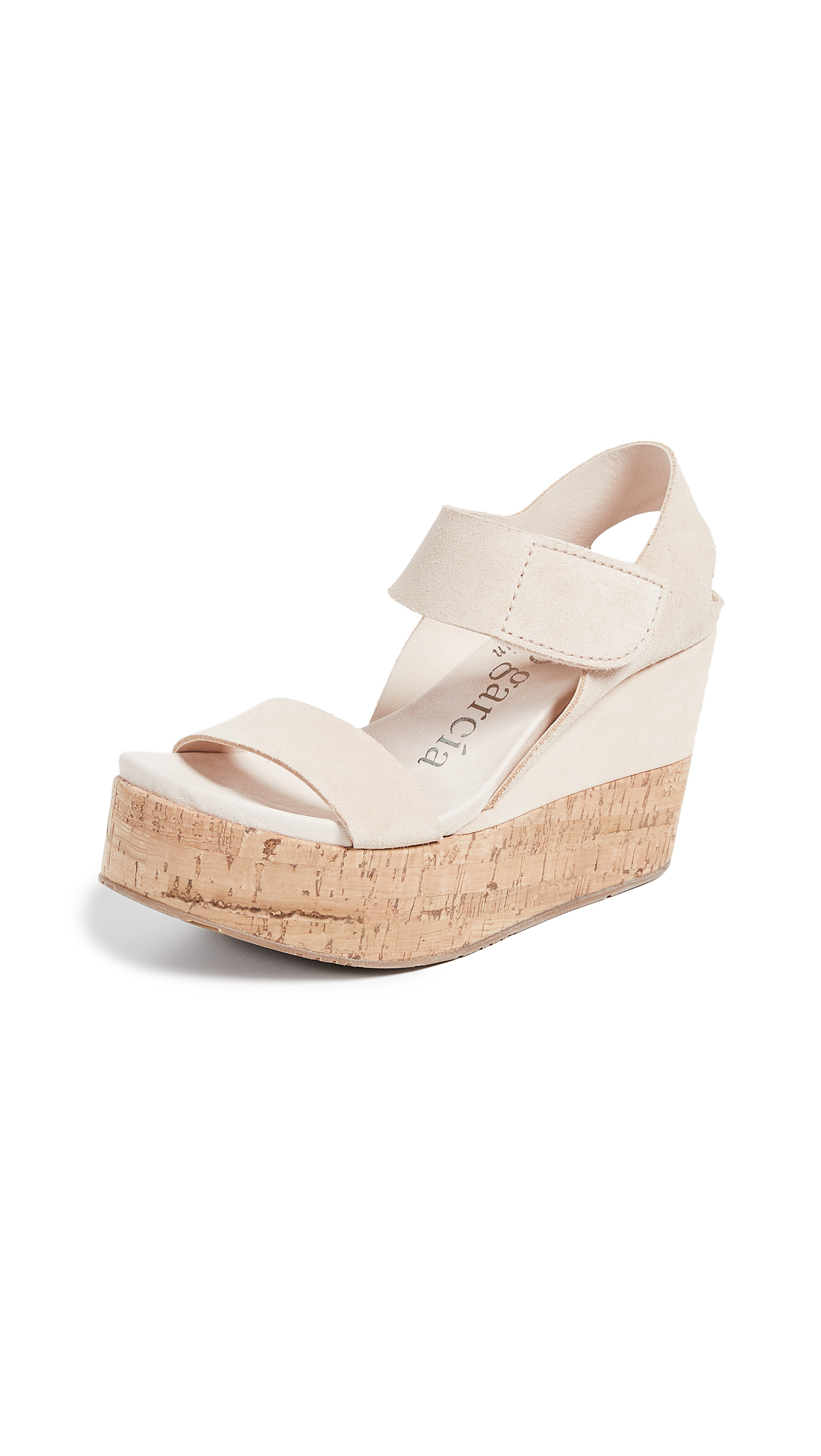 Pedro Garcia Daire Platform Wedge Sandals - Plume