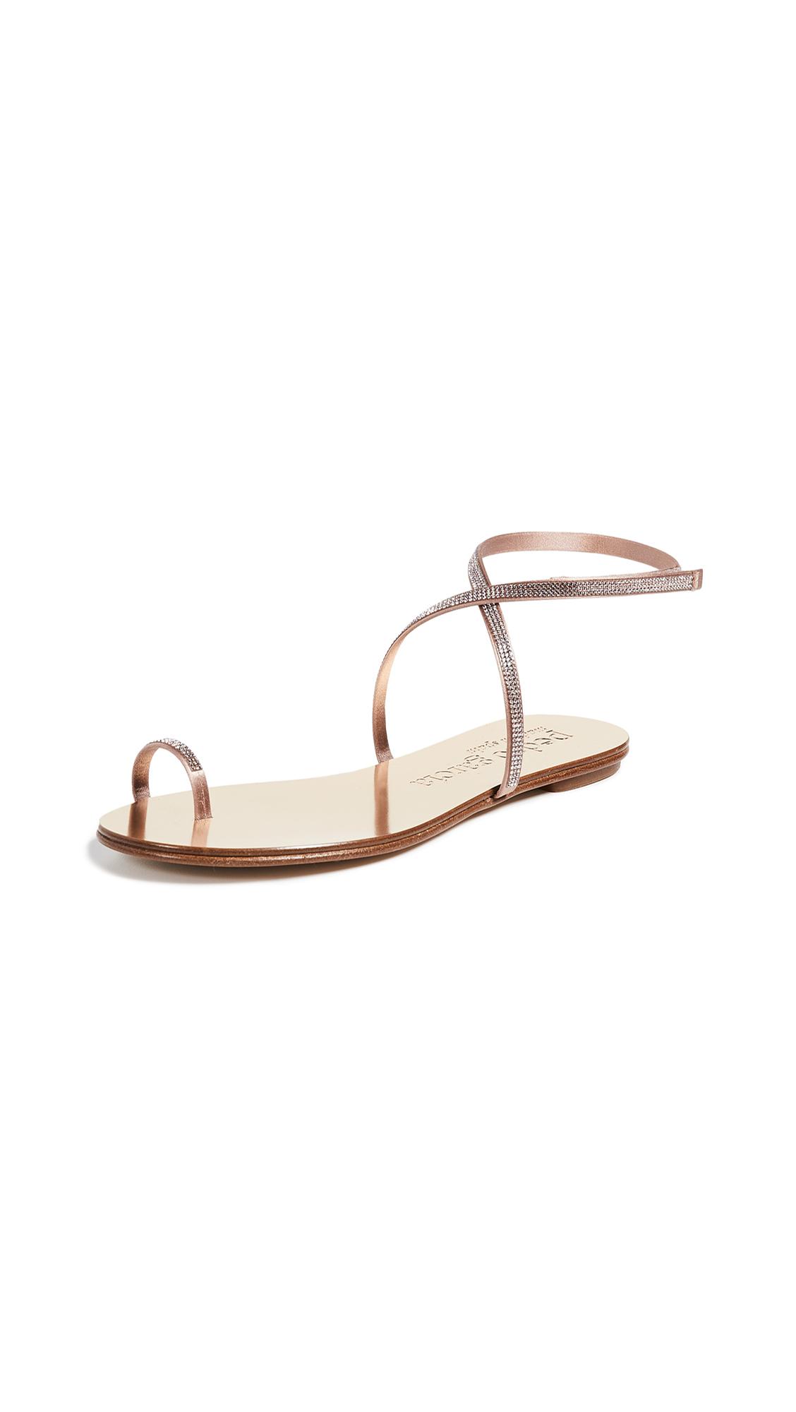 Pedro Garcia Sonay Flat Sandals - Morganite