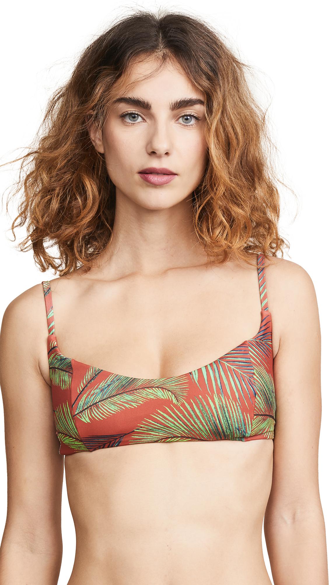 PEIXOTO Jojo Bikini Top in Tuscan/Palm