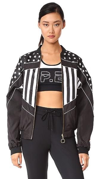 P.E NATION Wild Pitch Reversible Jacket - Black/White