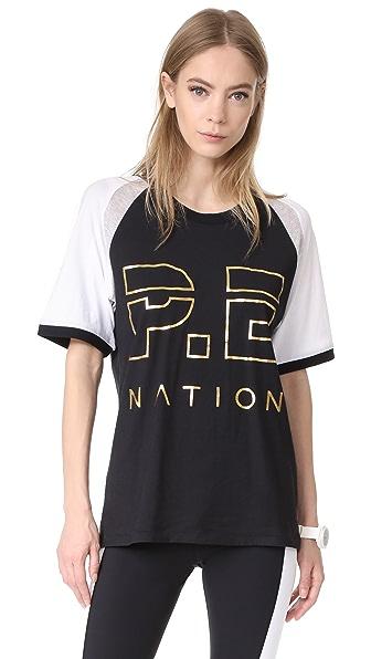 P.E NATION One Time Raglan Tee - Black
