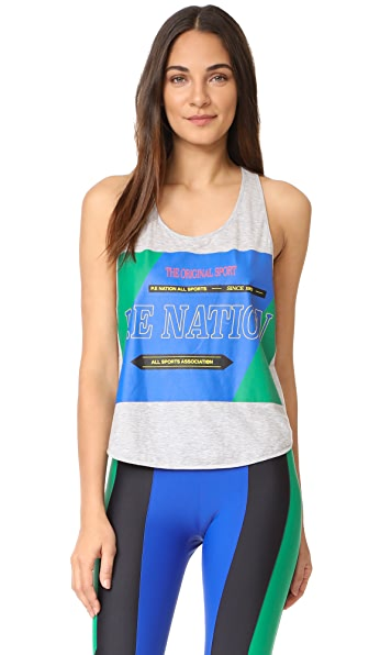 P.E NATION The Countback Tank - Grey Marl