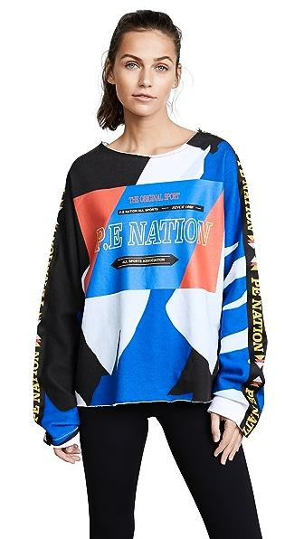 P.E NATION Power Shot Sweatshirt In Print