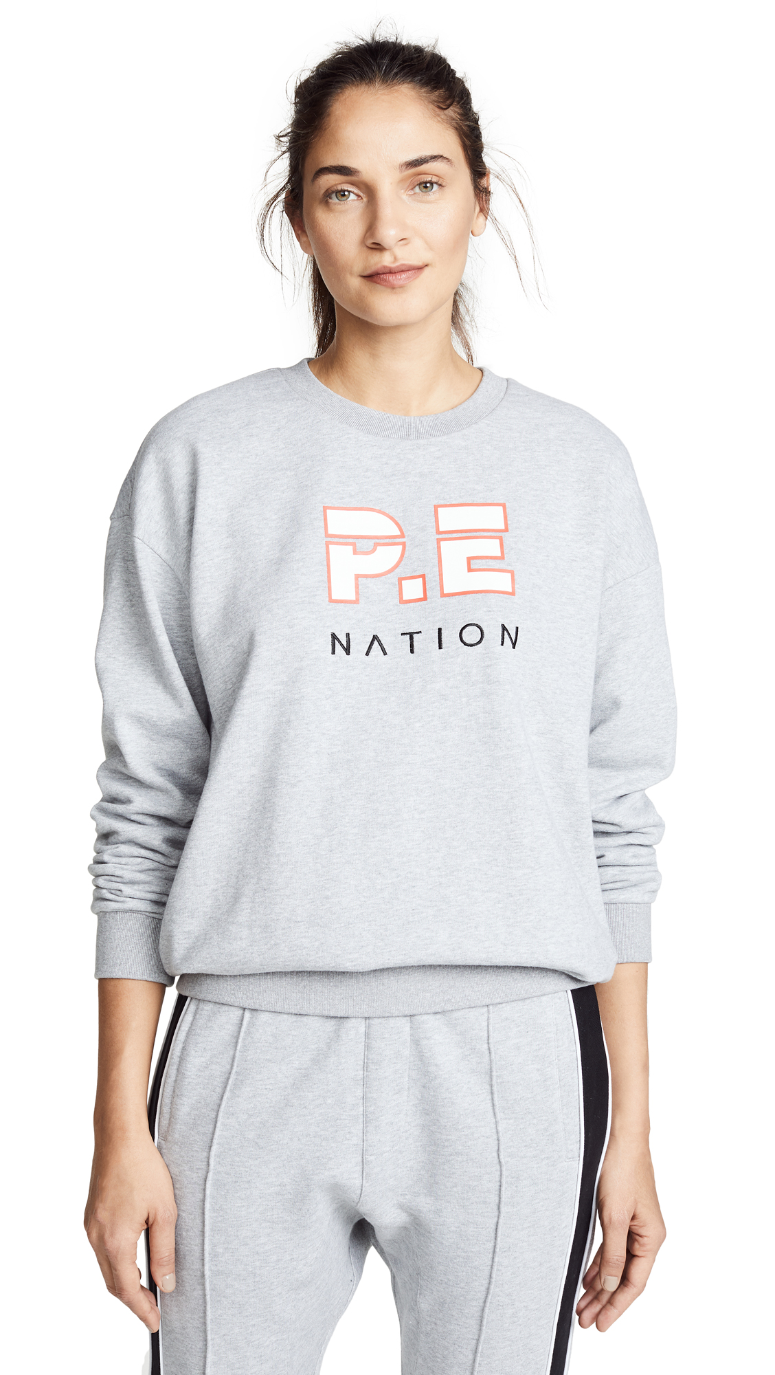 P.E NATION Heads Up Sweatshirt In Grey Marl