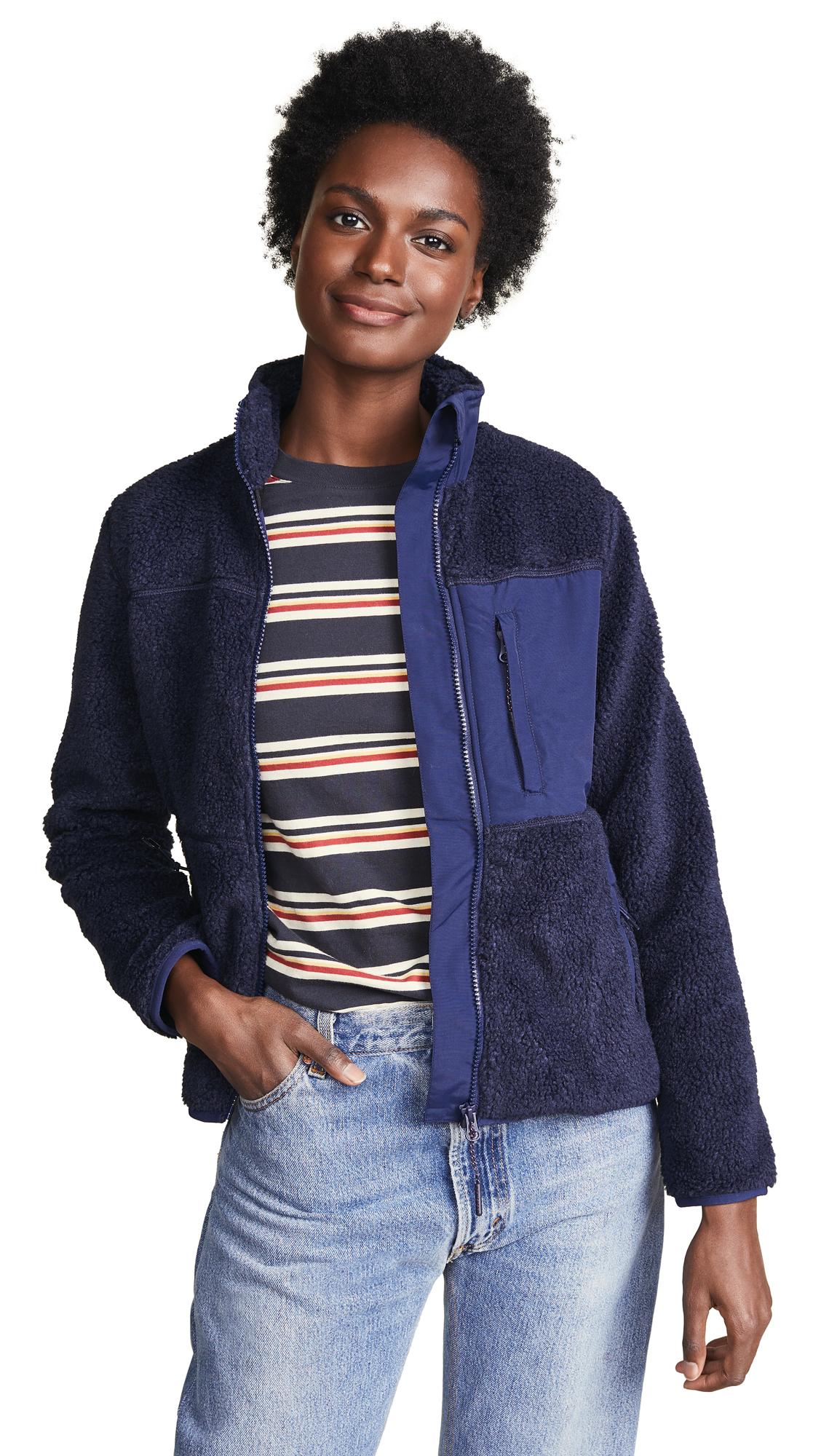 PENFIELD Mattawa Fleece Jacket in Peacoat