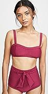 Peony Swimwear Sangria Bikini Top