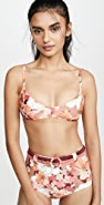 Peony Swimwear Piped Bikini Top