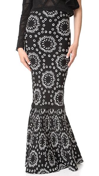 Pepa Pombo Printed Tube Skirt - Black/Arena