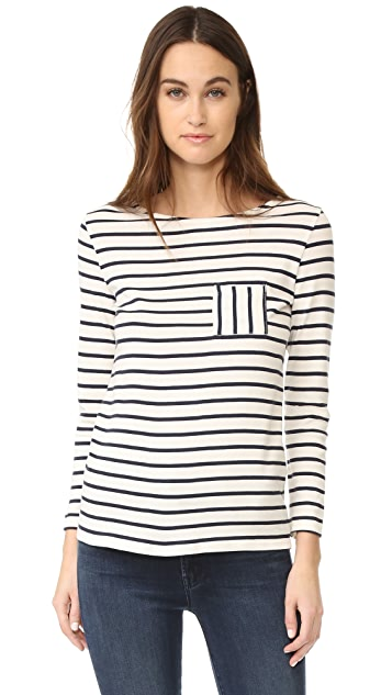 Petit Bateau 1X1 Iconic Striped Pocket Tee