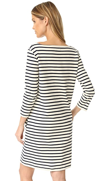 Petit Bateau Hannah Long Sleeve Striped Dress