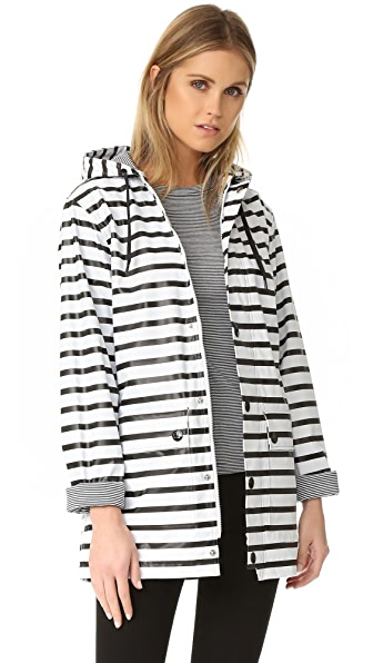 Fiona Button Hoodie Raincoat