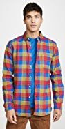 Portuguese Flannel Nebraska Plaid Flannel Button Down Shirt