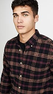 Portuguese Flannel Compact Plaid Flannel Button Down Shirt