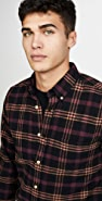 Portuguese Flannel Compact Plaid Flannel Button Down Shirt